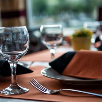 Table Decorations: Black and Orange Colour Scheme