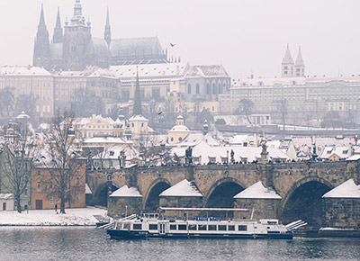 Cruise in Winter Prague