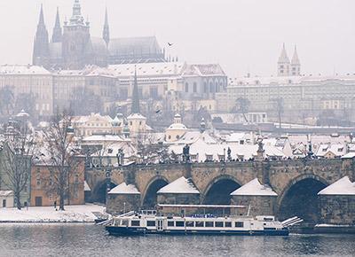 Cruise in Winter Prague